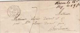 Lettre Cachet ST HIPPOLITE  Gard 15/5/1846 Taxe Manuscrite à Bordeaux Gironde - Poststempel (Briefe)