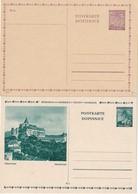 BOHEME ET MORAVIE     ENTIER POSTAL/GANZSACHE/POSTAL STATIONERY  LOT DE 2 CARTES - Boemia E Moravia
