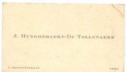 Visitekaartje - Carte Visite - J. Huyghebaert - De Tollebaere - Ieper - Cartes De Visite