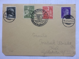 GERMANY 1943 Front Of Cover Gromitz Sonderstempel To Kiel - Germany