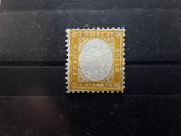 ITALIA ITALIE 1861 Vittorio Emanuele II, Yvert No 5, 80 C Jaune Orange , Neuf TB - Nuovi