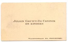 Visitekaartje - Carte Visite - Julien Gouwy - De Coninck & Kinders - Poperinge - Cartes De Visite