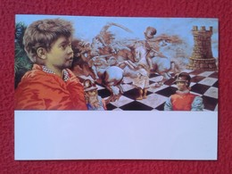 POSTAL POST CARD AJEDREZ CHESS Échecs SCHACH XADREZ PARTIDA GAME ALEKHINE - RUBINSTEIN KARLSBAD 1923 VER FOTOS Y DESCRIP - Postales