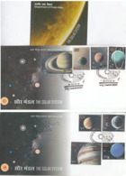 India  2018 Solar System 8v  Kanpur 2  First Day Covers  # 20144  D  Inde Indien - Astronomy