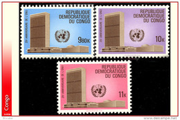 Congo 0722/24** ONU  MNH - République Démocratique Du Congo (1964-71)