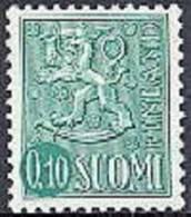 Finland 1962 0.10 Leeuwentype Groen Type II PF-MNH-NEUF - Finland