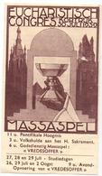 Devotie - Devotion - Prentje - Eucharistisch Congres - Massaspel Kortrijk 1939 - Images Religieuses