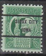 USA Precancel Vorausentwertung Preo, BureauIowa, Sioux City 908-71 - Vereinigte Staaten