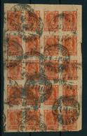 RUSSLAND - 1922/23 , 100 Rubel , Bogenteil Mit 20 Marken - Used Stamps
