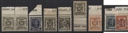 PREOS TYPOS - 9 TP Avec Inscriptions Sur Bords De Feuille - Typo Precancels 1932-36 (Ceres And Mercurius)