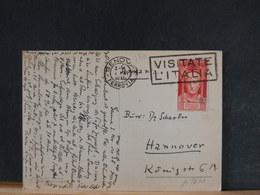 A9630   CP 1938 POUR ALLEMAGNE - 1900-44 Victor Emmanuel III.
