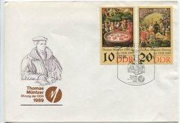 Thomas Müntzer - FDC 1989, DDR - Theologen