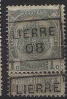 PREOS Roulette - LIERRE 1908 (position C). Cat 1138 Cote 600 - Préoblitérés