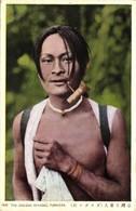 Formosa Taiwan, Native Gaogan Male Smoking Pipe (1930s) Postcard - Formosa
