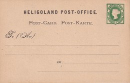 HELIGOLAND  ENTIER POSTAL/GANZSACHE/POSTAL STATIONERY  CARTE - Ganzsachen