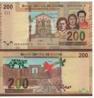 "BOLIVIA  New 200 Bolivianos  ""JUST  ISSUED""   Pnew  2019 - Bolivia"