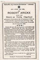 1914-18 WW1 ARICKX DENTERGEM DENTERGHEM MAUBEUGE CIVIL-ARBEIDER - Autres Collections
