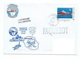 17100 - PATROUILLEUR  L'ASTROLABE - RECEPTION PAR LES TAAF  A LA RÉUNION - 13-09-2017 - TPAM L'ASTROLABE - Storia Postale
