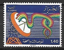 ALGERIE    -    1981 .  Y&T N° 737 Oblitéré.   Télécoms  /  Caducée  /  Antenne - Algeria (1962-...)