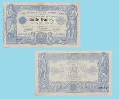 Algeria 1000 Francs 1924 - Algeria