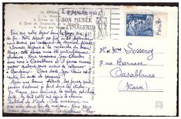 Gandon N° 886 Avec Bande Pub. Sur CP D'EPINAL Pour CASABLANCA Du 21.9.54. - France
