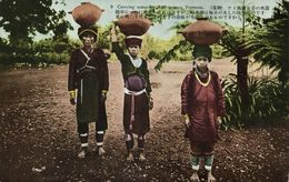 Formosa Taiwan, Native Ami Women Carrying Water, Head Transport (1930s) Postcard - Formosa