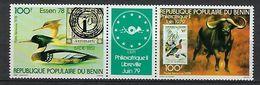 "Benin Aerien YT 290A Tryptique (PA) "" Philexafrique II "" 1978 Neuf** - Benin - Dahomey (1960-...)"