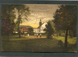 CPA - BAD NIEDERBRONN - Tennisplatz Am Herrenberg Mit Wasenburg, Animé - Niederbronn Les Bains