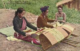 Formosa Taiwan, KAPPANZAN, Native Women Weaving (1930s) Postcard - Formose