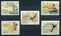 Fujeira  1971 Mi # 748 B - 752 B  SPORT OLYMPIC GAMES MUNICH 72 MNH - Fujeira