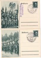 ALLEMAGNE     ENTIER POSTAL/GANZSACHE/POSTAL STATIONERY LOT DE 2 CARTE ILLUSTREE  NÜRNBERG 1937 - Allemagne