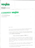 Publicité Et Facture Des Cuisines Vogica Route De Furnes à Coudekerque Branche ( 2 Documents - France