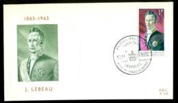 FDC COB 1351 JOSEPH LEBEAU BRUXELLES. 13.11.1965. - FDC
