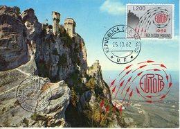 Saint Marin. Carte Maximum. Europa 1962 - Lettres & Documents