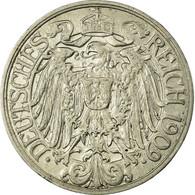 Monnaie, GERMANY - EMPIRE, Wilhelm II, 25 Pfennig, 1909, Munich, TTB, KM 18 - [ 2] 1871-1918 : Imperio Alemán