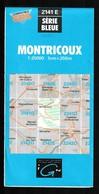 Carte IGN - 2141 Est - Montricoux - 1 / 25 000 - 1987 - Cartes Topographiques