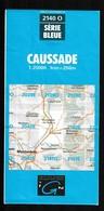 Carte IGN - 2140 Ouest - Caussade - 1 / 25 000 - 1986 - Cartes Topographiques