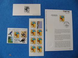 Lot Fête Du Timbre 2000 TINTIN Notice Fdc + Gravure + Bloc + Carnet . Imprimerie Des Timbres Poste - Blocks & Kleinbögen