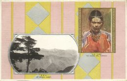 Formosa Taiwan, Mt. Nitaka, Native Savage Girl, Facial Tattoo (1910s) Postcard - Formose