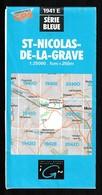 Carte IGN - 1941 Est - St Nicolas De La Grave - 1 / 25 000 - 1983 - Cartes Topographiques
