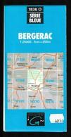 Carte IGN - 1836 Ouest - Bergerac - 1 / 25 000 - 1992 - Cartes Topographiques