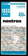 Carte IGN - 1833 Est - Nontron - 1 / 25 000 - 1984 - Cartes Topographiques