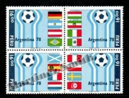 Peru - Perou 1978 Yvert 630-33, Football World Cup Argentina 78 - MNH - Perú
