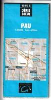 Carte IGN - 1545 Est - Pau - 1 / 25 000 - 1996 - Cartes Topographiques