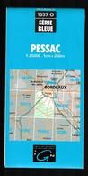 Carte IGN - 1537 Ouest - Pessac  - 1 / 25 000 - 1991 - Cartes Topographiques
