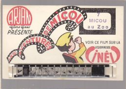 "Sp- CINEMA  CARTEFILMS ARJAN Films Fixes - Micou Au Zoo - Complète ""neuve"" Avec Le Film - Cinema"
