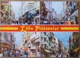 LILLE (59).MULTIVUES SUR LES RUES PIETONNES . ANNÉE 1992. - Lille