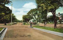 Formosa Taiwan, TAIHOKU TAIPEI, The Three-Parallel-Road (1930s) Postcard - Formose