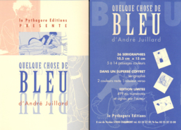 JUILLARD : Carte Annonce Expo QUELQUE CHOSE DE BLEU - Juillard