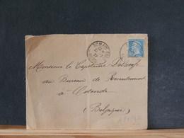 A9699D    DEVANT DE LETTRE POUR LA BELG. OBL.  SOMAIN GARE/NORD  1927 - 1922-26 Pasteur